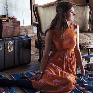 {Anthro} Charlotte Taylor Dromedary dress